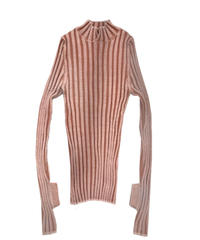 stripe turtleneck  (pink)