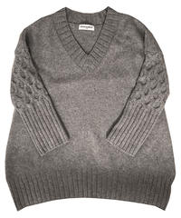 V neck sweater  (grey)