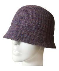 Lame cloche hat (purple)