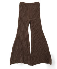 knit trousers  (brown)