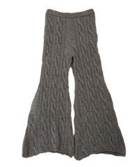 knit trousers  (grey)