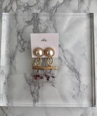 handmade  flower earring  -609-