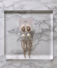 handmade  parl chain_earring  -627-
