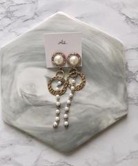 handmade  parl_earring  -608-