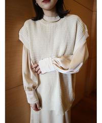 waffle knit vest