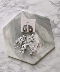 handmade  Perl earring  -625-