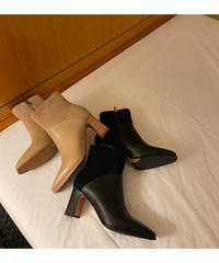 half suede boots