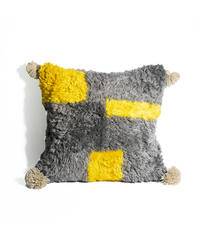 1.Cushion Cover M/ Gray×Yellow (45×45)
