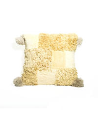 16.Cushion Cover S/ Patch work・Clove(35×35)
