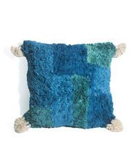 3.Cushion Cover M/ Blue×Green (45×45)