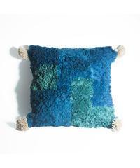 33.Cushion Cover M/ Blue×Green (45×45)