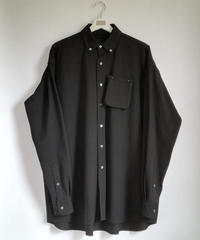 P,Removal Loose shirt/BLACK/19AW-003