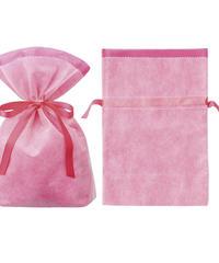 リボン付きラッピング袋 ピンク