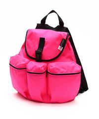3POCKET BACK PACK(Mサイズ) HOTPINK