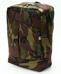 DIAGONAL ZIPPER BACKPACK(Lサイズ) WOODLAND CAMO