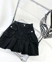 ブラックデニムスカート