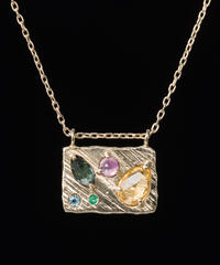 【LIO and LINN】K14 collage necklace  <一点物>
