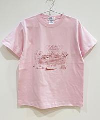 ティータイムのTシャツ (pink)