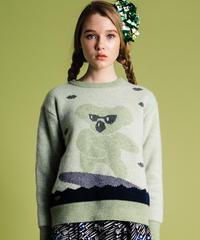 サーフィンコアラのセーター(light green)