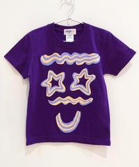 クリームフェイス のキッズTシャツ (purple)