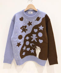 クッキー作りのセーター (light blue)