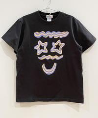 クリームフェイスTシャツ (charcoal)