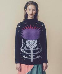 アザミちゃんハイネックセーター  (charcoal)