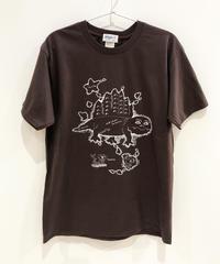 ディメトロドン大陸のTシャツ (dark brown)