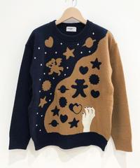 クッキー作りのセーター (navy)