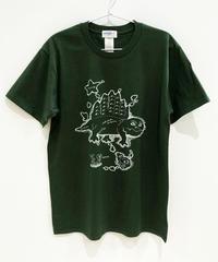 ディメトロドン大陸のTシャツ (dark green)