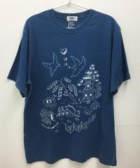 ウィローパターンインディゴTシャツ (light indigo)