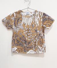 植物プリントキッズTシャツ (beige)