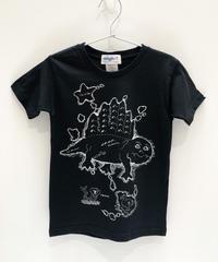 ディメトロドン大陸のキッズTシャツ (black)