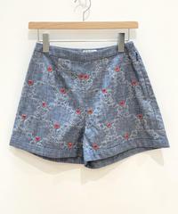 <SAMPLE SALE> アフターヌーンティー刺繍のデニムショートパンツ