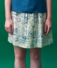 ヤマネコプリントのシルクスカート