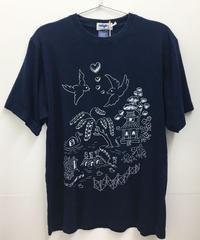 ウィローパターンインディゴTシャツ (dark indigo)