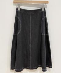 <SAMPLE SALE> デニムフレアスカート  (charcoal)