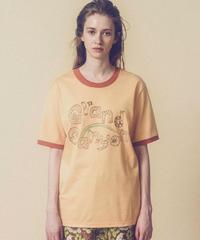 グランドキャニオンの生き物メンズスタイルTシャツ (peach yellow)