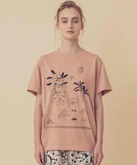 植物図鑑のTシャツ (coral)
