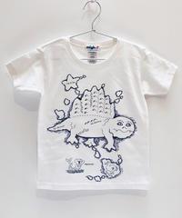ディメトロドン大陸のキッズTシャツ (white)