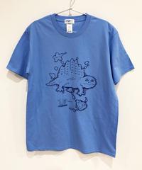 ディメトロドン大陸のTシャツ (blue)