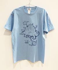 ディメトロドン大陸のTシャツ (light blue)