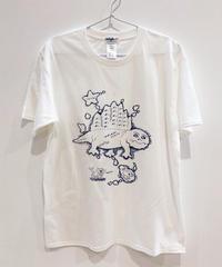 ディメトロドン大陸のTシャツ (white)