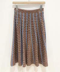 <SAMPLE SALE> 絣糸ニットフレアスカート (brown)