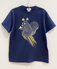 宇宙のリスTシャツ (navy)