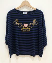 <SAMPLE SALE> アフターヌーンティーのアップリケ刺繍Tシャツ