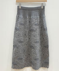 <SAMPLE SALE> 宇宙の石庭のニットスカート (grey)
