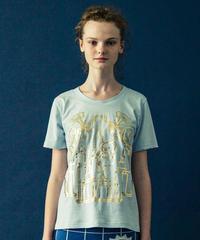 アールデコビルプリントTシャツ(light blue)