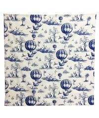 切手シートのプリント風呂敷 (blue)