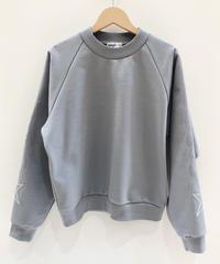 流れ星ライン刺繍のスウェット (light grey)
